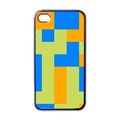 Tetris shapes Apple iPhone 4 Case (Black)