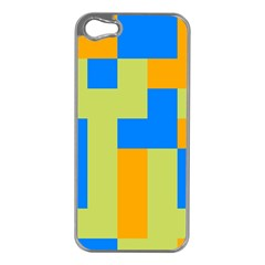 Tetris shapes Apple iPhone 5 Case (Silver)