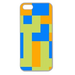 Tetris shapes Apple Seamless iPhone 5 Case (Clear)
