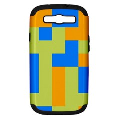 Tetris shapes Samsung Galaxy S III Hardshell Case (PC+Silicone)