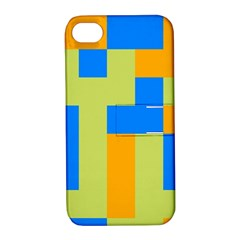 Tetris shapes Apple iPhone 4/4S Hardshell Case with Stand