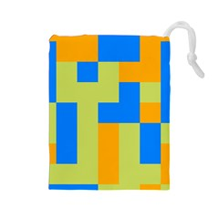 Tetris shapes Drawstring Pouch