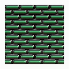 Green 3D rectangles pattern Medium Glasses Cloth (2 Sides)