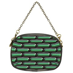 Green 3D rectangles pattern Chain Purse (Two Sides)