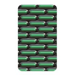 Green 3D rectangles pattern Memory Card Reader (Rectangular)