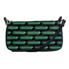 Green 3D rectangles pattern Shoulder Clutch Bag