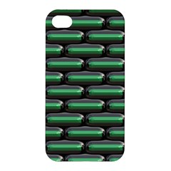 Green 3D rectangles pattern Apple iPhone 4/4S Premium Hardshell Case