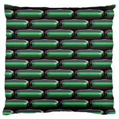 Green 3D rectangles pattern Large Cushion Case (Two Sides)