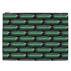 Green 3D rectangles pattern Cosmetic Bag (XXL)