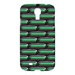 Green 3D rectangles pattern Samsung Galaxy S4 I9500/I9505 Hardshell Case