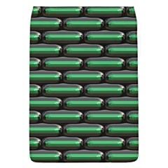 Green 3D rectangles pattern Removable Flap Cover (L)