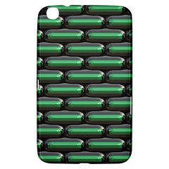 Green 3D rectangles pattern Samsung Galaxy Tab 3 (8 ) T3100 Hardshell Case