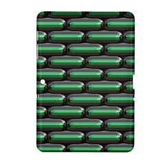 Green 3D rectangles pattern Samsung Galaxy Tab 2 (10.1 ) P5100 Hardshell Case