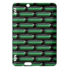 Green 3D rectangles pattern	Kindle Fire HDX Hardshell Case