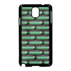Green 3D rectangles pattern Samsung Galaxy Note 3 Neo Hardshell Case