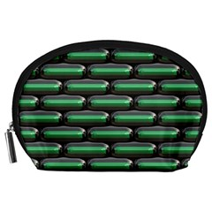 Green 3D rectangles pattern Accessory Pouch