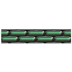 Green 3D rectangles pattern Flano Scarf