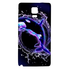 Orca With Glowing Line Jumping Out Of A Circle Mad Of Water Galaxy Note 4 Back Case