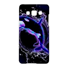 Orca With Glowing Line Jumping Out Of A Circle Mad Of Water Samsung Galaxy A5 Hardshell Case