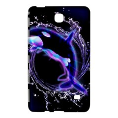 Orca With Glowing Line Jumping Out Of A Circle Mad Of Water Samsung Galaxy Tab 4 (7 ) Hardshell Case