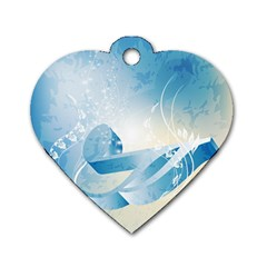 Music Dog Tag Heart (Two Sides)
