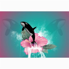 Orca Jumping Out Of A Flower With Waterfalls Collage 12  X 18