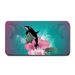 Orca Jumping Out Of A Flower With Waterfalls Medium Bar Mats