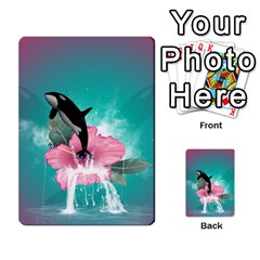 Orca Jumping Out Of A Flower With Waterfalls Multi-purpose Cards (Rectangle)