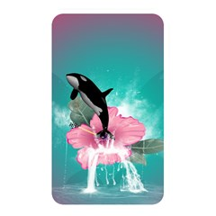 Orca Jumping Out Of A Flower With Waterfalls Memory Card Reader