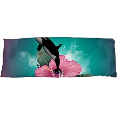 Orca Jumping Out Of A Flower With Waterfalls Body Pillow Cases Dakimakura (Two Sides)