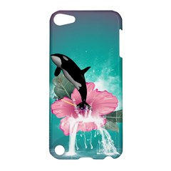 Orca Jumping Out Of A Flower With Waterfalls Apple iPod Touch 5 Hardshell Case