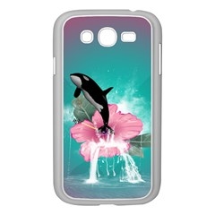 Orca Jumping Out Of A Flower With Waterfalls Samsung Galaxy Grand DUOS I9082 Case (White)