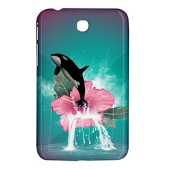 Orca Jumping Out Of A Flower With Waterfalls Samsung Galaxy Tab 3 (7 ) P3200 Hardshell Case