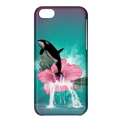 Orca Jumping Out Of A Flower With Waterfalls Apple iPhone 5C Hardshell Case