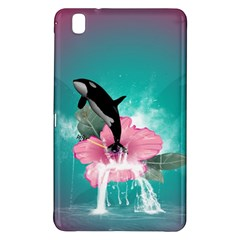 Orca Jumping Out Of A Flower With Waterfalls Samsung Galaxy Tab Pro 8.4 Hardshell Case