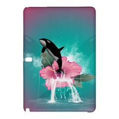 Orca Jumping Out Of A Flower With Waterfalls Samsung Galaxy Tab Pro 12.2 Hardshell Case