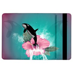 Orca Jumping Out Of A Flower With Waterfalls iPad Air 2 Flip