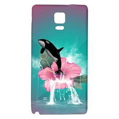 Orca Jumping Out Of A Flower With Waterfalls Galaxy Note 4 Back Case