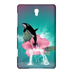 Orca Jumping Out Of A Flower With Waterfalls Samsung Galaxy Tab S (8 4 ) Hardshell Case