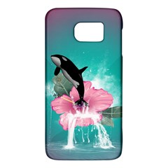 Orca Jumping Out Of A Flower With Waterfalls Galaxy S6