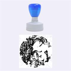Strange Abstract 1 Rubber Round Stamps (medium)