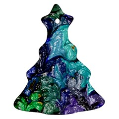Strange Abstract 1 Christmas Tree Ornament (2 Sides)