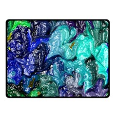 Strange Abstract 1 Double Sided Fleece Blanket (Small)