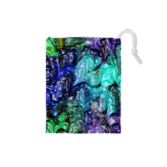 Strange Abstract 1 Drawstring Pouches (Small)