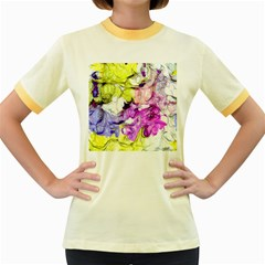 Strange Abstract 2 Soft Women s Fitted Ringer T-Shirts