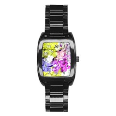 Strange Abstract 2 Soft Stainless Steel Barrel Watch