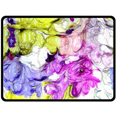 Strange Abstract 2 Soft Double Sided Fleece Blanket (Large)