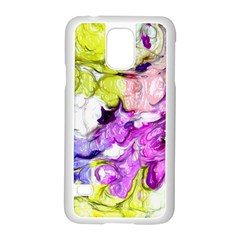 Strange Abstract 2 Soft Samsung Galaxy S5 Case (White)