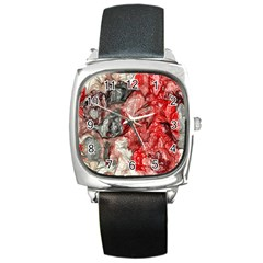 Strange Abstract 3 Square Metal Watches