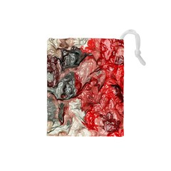 Strange Abstract 3 Drawstring Pouches (Small)
